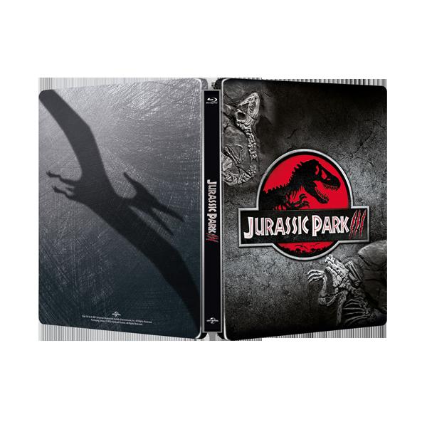 侏羅紀公園3 限量進口單碟空鐵盒 Jurassic Park III STEELBOOK ( NO DISC )