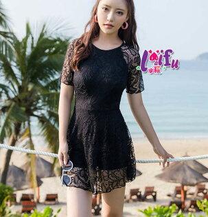 來福:來福泳衣,G250泳衣非非蕾絲短袖泳衣連身泳衣有加大泳衣游泳衣泳裝正品,售價1200元