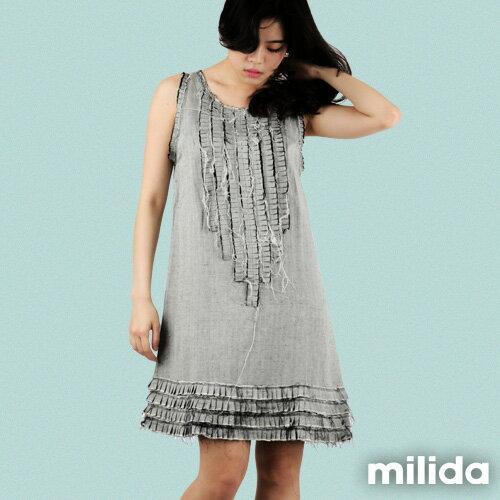【Milida,全店七折免運】-早春商品-無袖款-氣質嚴選洋裝 0