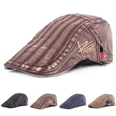 貝雷帽鴨舌帽-復古休閒水洗棉質男女帽子4色73tv138【獨家進口】【米蘭精品】
