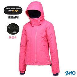 【H.Y SPORT】ZMO 女連帽防風保暖外套JG502 紫紅 防潑水/耐磨/內裏刷毛
