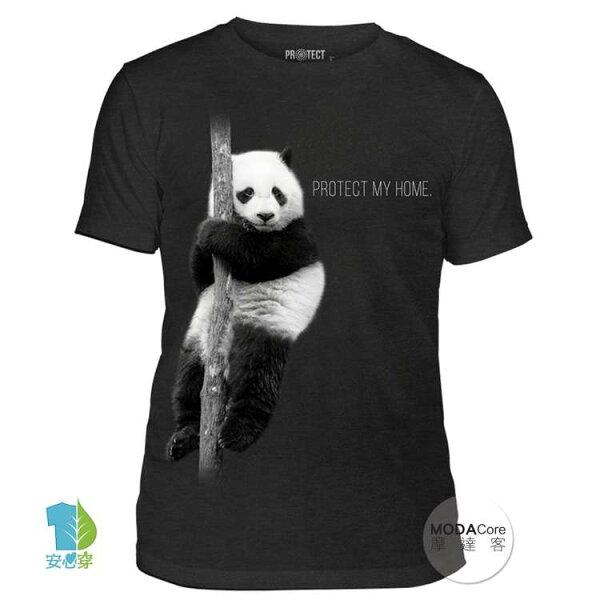 【摩達客】(預購)美國TheMountain保育系列熊貓的家中性短袖紀念T恤