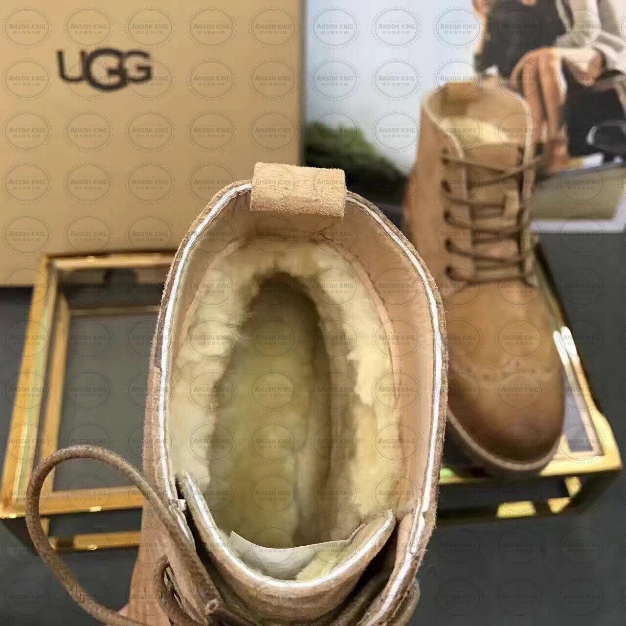 OUTLET正品代購 澳洲 UGG 女款加厚磨砂面 馬汀靴 中長靴 保暖 真皮羊皮毛 雪靴 短靴 駝色 4
