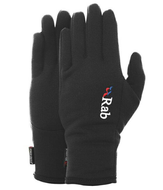 【鄉野情戶外專業】Rab |英國| POWER STRETCH 保暖手套 男款/四向彈性/QAG-48