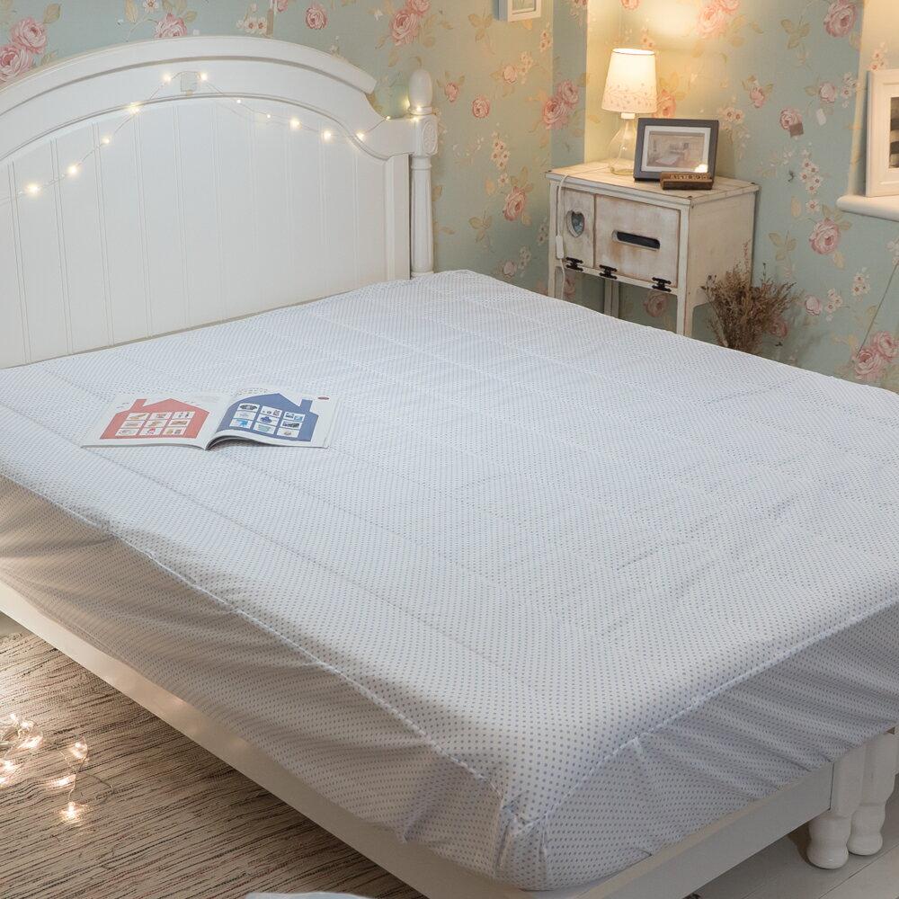 【點點】日系床包式保潔墊(尺寸可選)抗菌防蟎防污 台灣製 厚實鋪棉 可水洗 好窩生活節 7