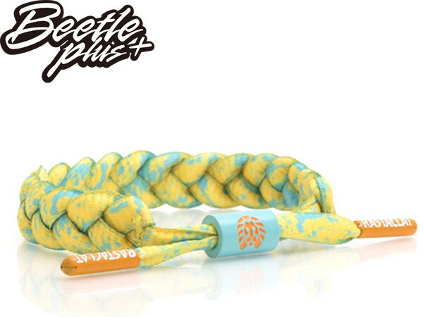 BEETLE PLUS 西門町經銷 全新 美國品牌 RASTACLAT SHOELACE 綠黃 橘黃 夜光 沙灘 潑墨 南灣 衝浪 編織 鞋帶 手環 RA-77