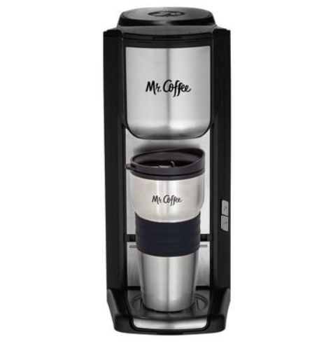 Mr. Coffee Single Cup Coffeemaker with Built-in Grinder, with Travel Mug Included BVMC-SCGB200 3