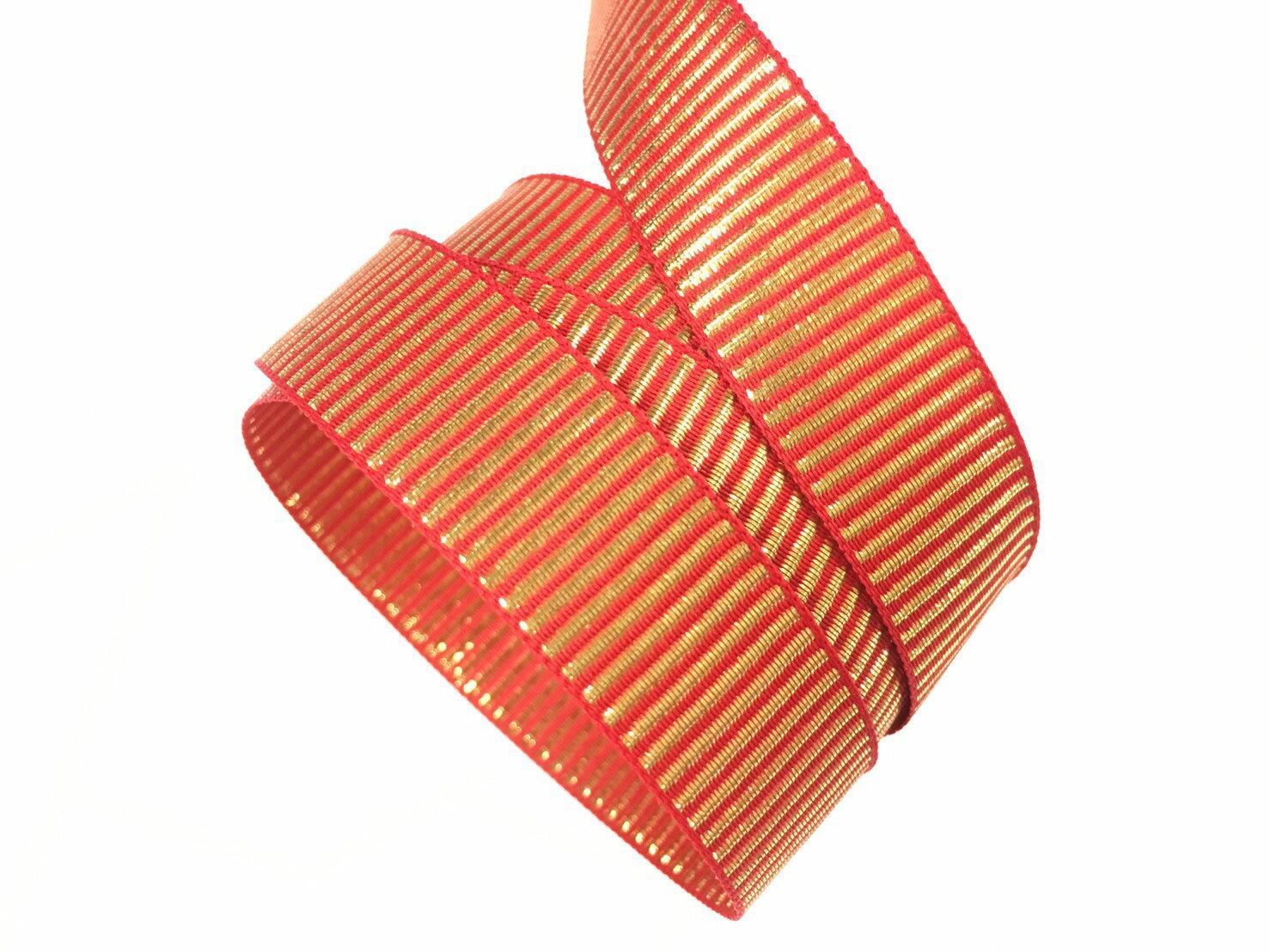 金蔥條紋緞帶 15mm、10mm 3碼裝 0