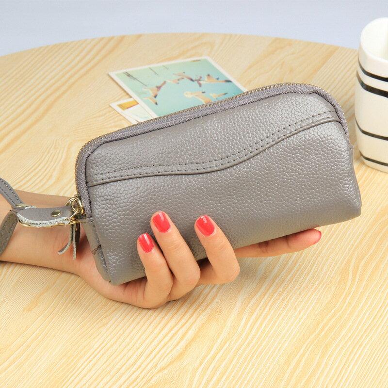手拿包真皮錢包-長款雙拉鍊大容量牛皮女包包6色73wz20【獨家進口】【米蘭精品】 0