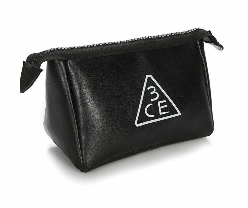 3CE化妝包 - 3CONCEPT EYES PU皮紋大容量化妝包收納包手拿包 【AN SHOP】 - 限時優惠好康折扣