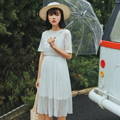 連身裙假兩件上衣-甜美氣質蕾絲時尚女連衣裙73rx23【獨家進口】【米蘭精品】