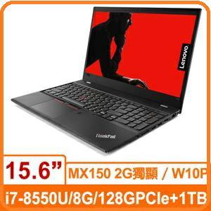 Lenovo聯想ThinkPadT58020L9CTO3WW15.6吋商務筆電15.6吋FHDi7-8550U8G128GSSD+1TBMX1502GW10P
