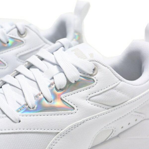 【滿$2500領券現折$350】PUMA 休閒鞋 X-RAY LITE METALLIC 白 網布 皮革 雷射銀標 女 (布魯克林) 36885803