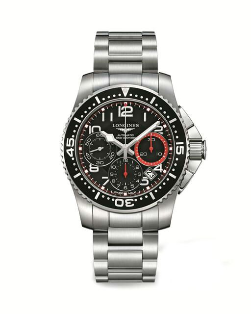 LONGINES L36964536深海征服者潛水機械計時腕錶/黑面黑圈41mm