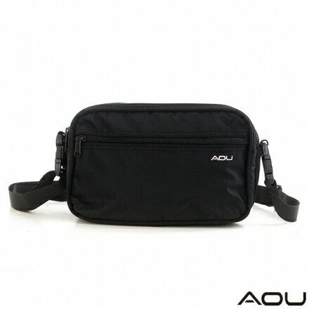 【AOU】旅行配件台灣製 商務腰包 斜背包(兩用)多隔層收納(方型105-011)【威奇包仔通】