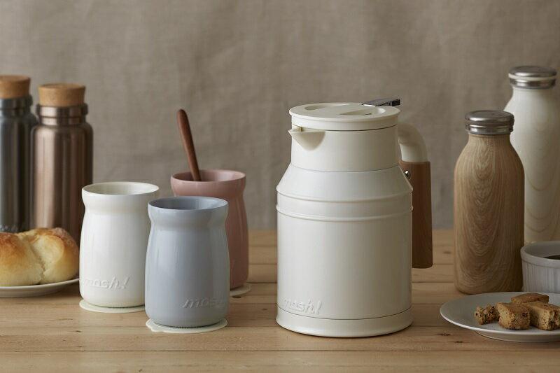 【日本mosh!】牛奶白 牛奶罐保溫壺 (1000ml) 1