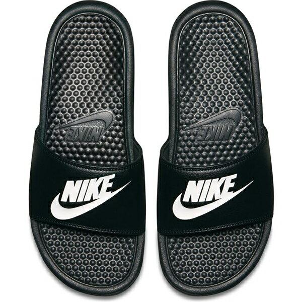 【NIKE】BENASSI JDI 休閒鞋 拖鞋 男女鞋 黑-343880090