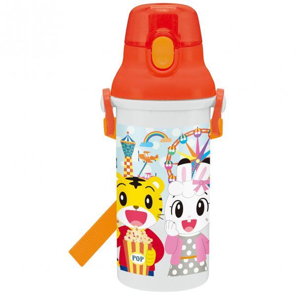 【真愛日本】18080400001日本製直飲彈蓋水壺480ML-巧虎樂園橘巧虎日本製水瓶水壺彈蓋水壺附揹帶