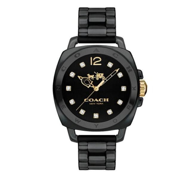 COACH耀眼迷人時尚陶瓷腕錶黑14502504