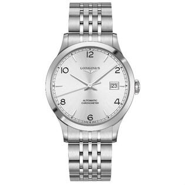 LONGINES浪琴表L28214766開創者優雅經典機械腕錶銀面40mm