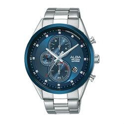 ALBA VD57-X106B(AM3461X1)廣告款時尚藍計時腕錶/43mm