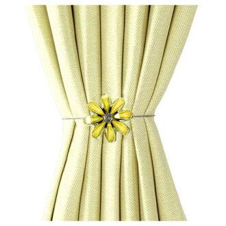 磁鐵式窗簾束帶FLOWER2 YE