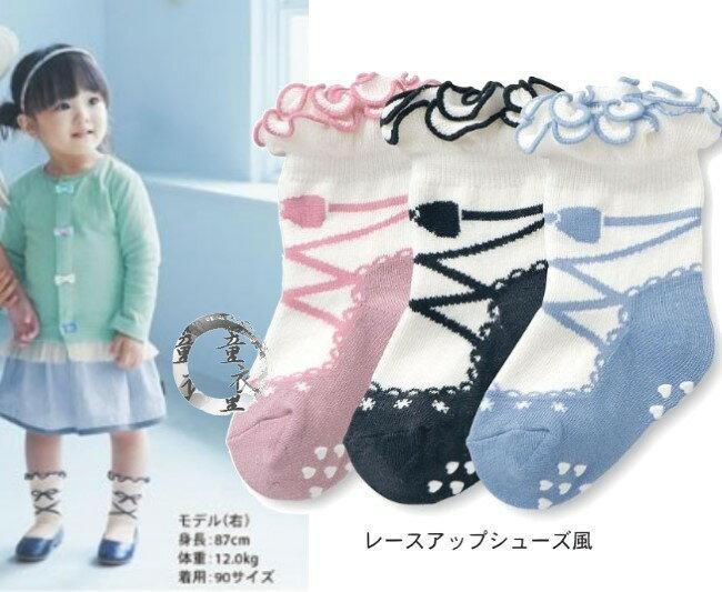 童衣圓【C032】C32芭蕾舞鞋襪 優雅 可愛 素雅 典緻 花邊 止滑 防滑 短襪 假鞋襪~S.M.L號 一包3雙