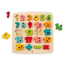 【德國Hape愛傑卡】數字立體木拼圖