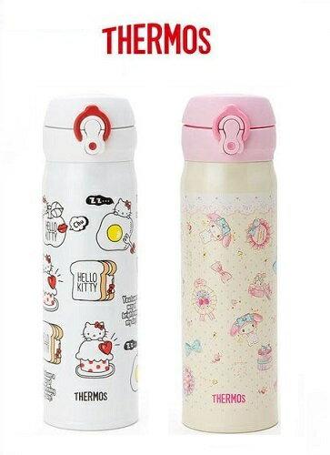 【百倉日本舖】日本進口 膳魔師 THERMOS 美樂蒂/Kitty不鏽鋼保溫杯 保溫瓶500ml
