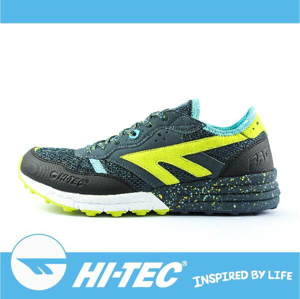 HI-TEC 巴德沃特 BADWATER A005440033 男超輕野跑鞋 透氣 耐磨 舒適 緩衝性佳深藍/螢光黃色 萬特戶外運動