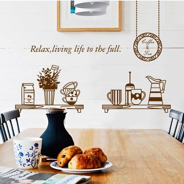 BO雜貨【YV0619】DIY時尚裝飾組合可移動壁貼 牆貼 壁貼 創意壁貼 輕鬆下午茶 AY6036