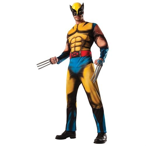 Mens Deluxe Wolverine Costume Size Standard 42-46 0