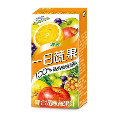 <br/><br/>  M-波蜜100%蘋果柳橙蔬果汁160ml*6【愛買】<br/><br/>