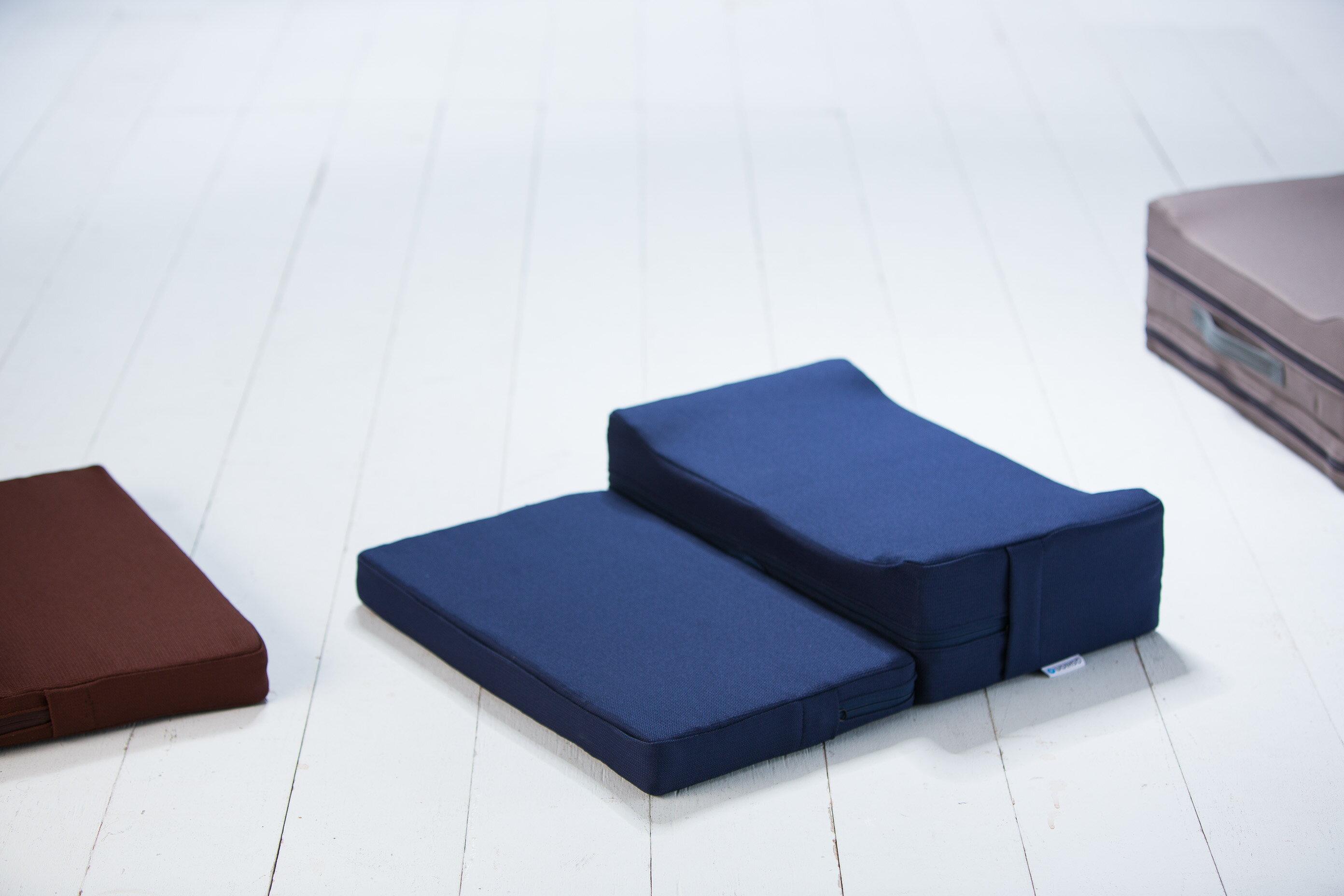 QUSHION高彈力和室墊、坐墊-人體工學舒弧折疊墊