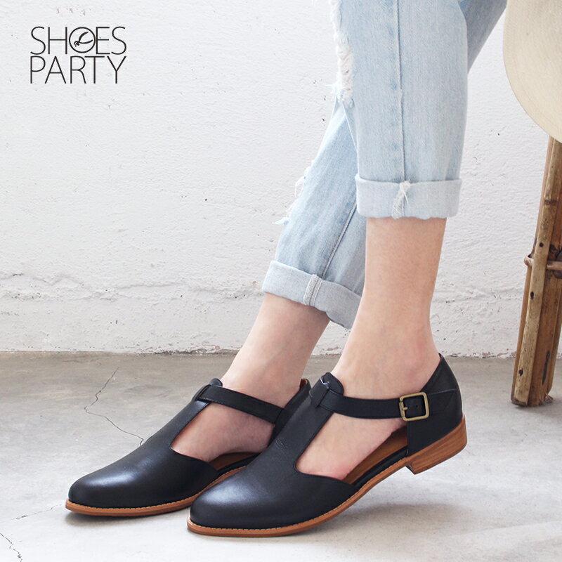 【S2-19328L】外尖內圓T字牛津鞋_Shoes Party 6