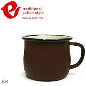Emalia Olkusz 波蘭百年琺瑯杯/牛奶杯/琺瑯馬克杯250ml TPS 棕色 BR