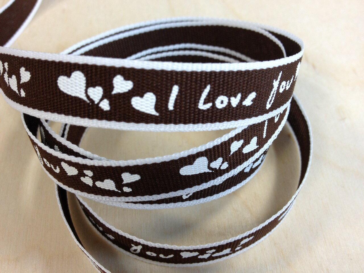 【Crystal Rose緞帶專賣店】love 愛心緞帶 12mm 3碼 (9色) 7