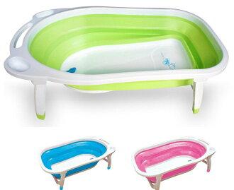 ★衛立兒生活館★AJ 小河馬折疊式浴盆 (共3色)