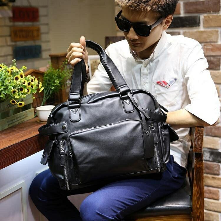 男包休閒側背包斜背包手提包男士皮包背包商務旅行包潮大容量新款yh