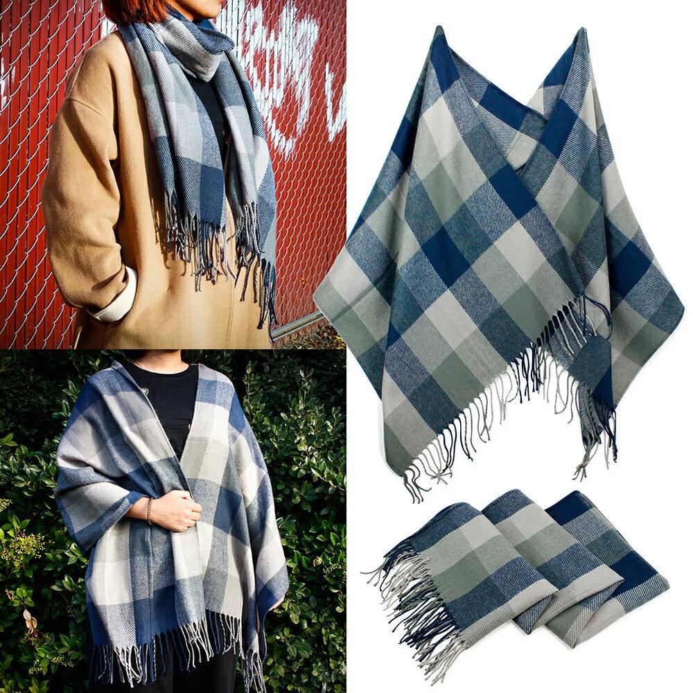 8e42ffacf Women's Plaid Scarf Blanket Fashion Long Shawl Big Grid Large Winter Warm  Cozy Tartan Wrap with