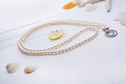 大東山珠寶 日本AKOYA天然海水珍珠長鍊耳環套組 典藏珍心 3