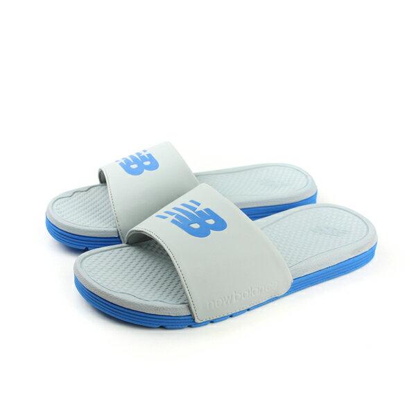 NEW BALANCE 拖鞋 灰藍色 男鞋 no275