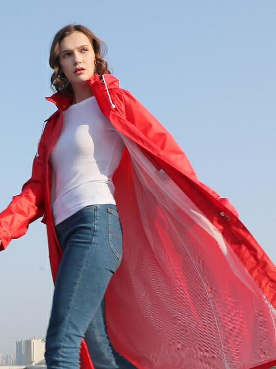 雨衣 琴飛曼單人長款雨衣全身外套風衣雨披 成人徒步戶外時尚防水雨衣