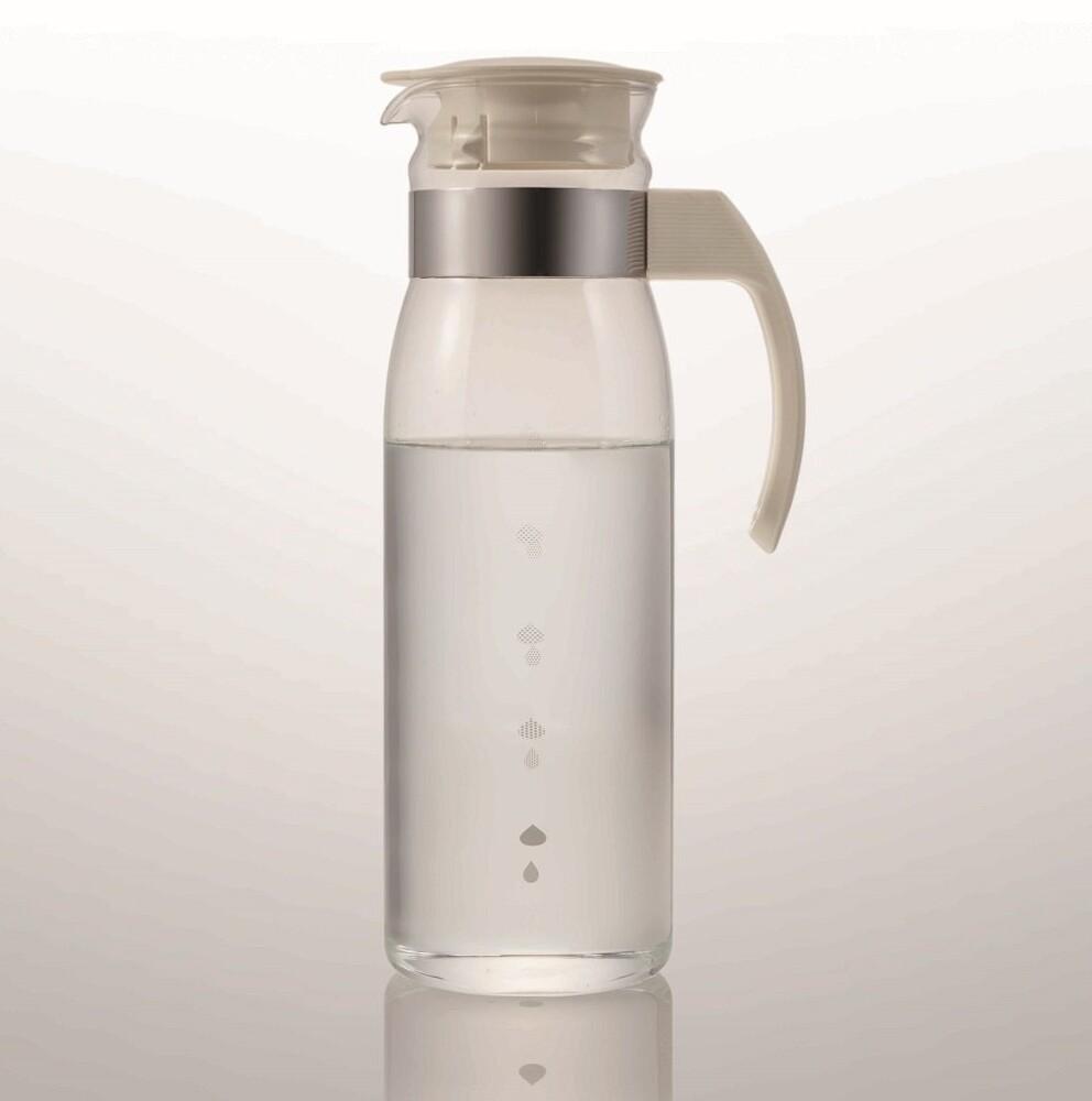 【日本Hario】耐熱玻璃冷水瓶1400ml (RPLN-14-OW) 冷水壺 果汁壺 耐熱玻璃壺