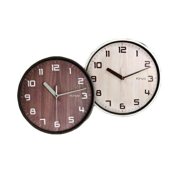 時鐘 耐嘉 KINYO 北歐風木紋掛鐘 CL-156 賣家送電池 掛鐘 數字鐘