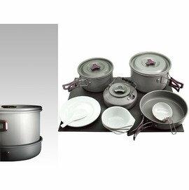 【速捷戶外露營】RHINO 犀牛K-4 四人鋁合金套鍋 超輕四人鍋具 4人鍋 燈山露營炊具