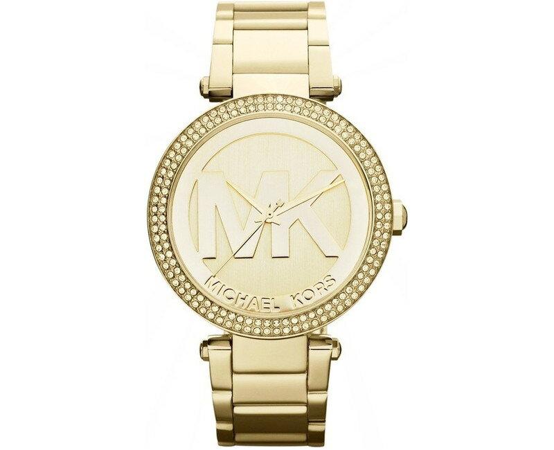 美國Outlet 正品代購 Michael Kors MK 時尚奢華 金色 鑲鑽 計時 手錶 腕錶 MK5784