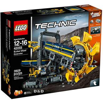 樂高積木 LEGO《 LT42055 》科技 Technic 系列 - 巨型滾輪挖土機