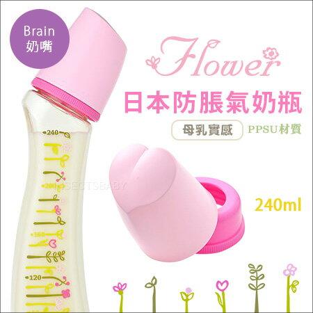 ✿蟲寶寶✿【日本Dr.Betta】日本製新款夢幻小花防脹氣奶瓶PPSU材質Brain-SF4240ml