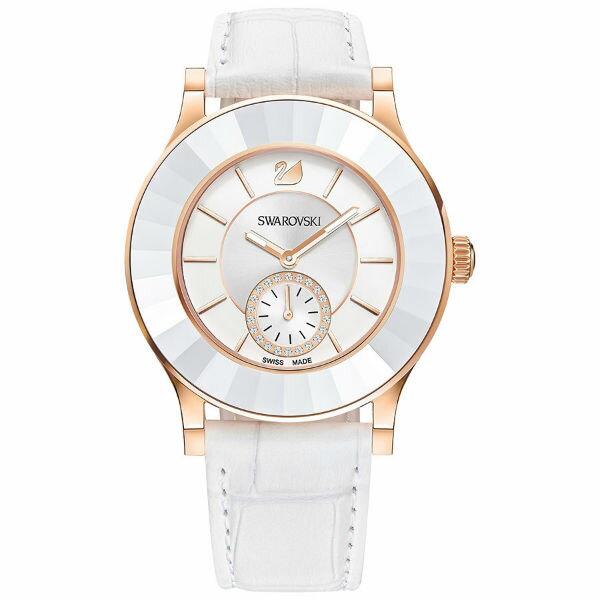 Swarovski 施華洛世奇 Octea Classica White Rose時尚晶圈腕錶/5043143白面39mm